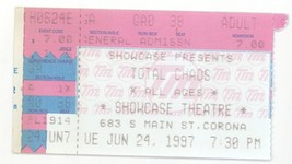 RARE Total Chaos 6/24/97 Corona CA Showcase Theatre Concert Ticket Stub! - $2.96