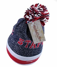 Staple Breakaway Mitchell Ness Respect All Fear None Red White Blue Pom Beanie image 2
