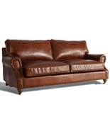 MarquessLife Luxury Antique 3Seater Sofa Couch 100%Genuine Aged Leather ... - $2,455.00