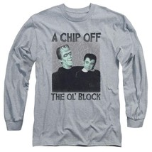 The Munsters t-shirt retro Chip Off the Ol Block long sleeve gray tee NBC908 image 1