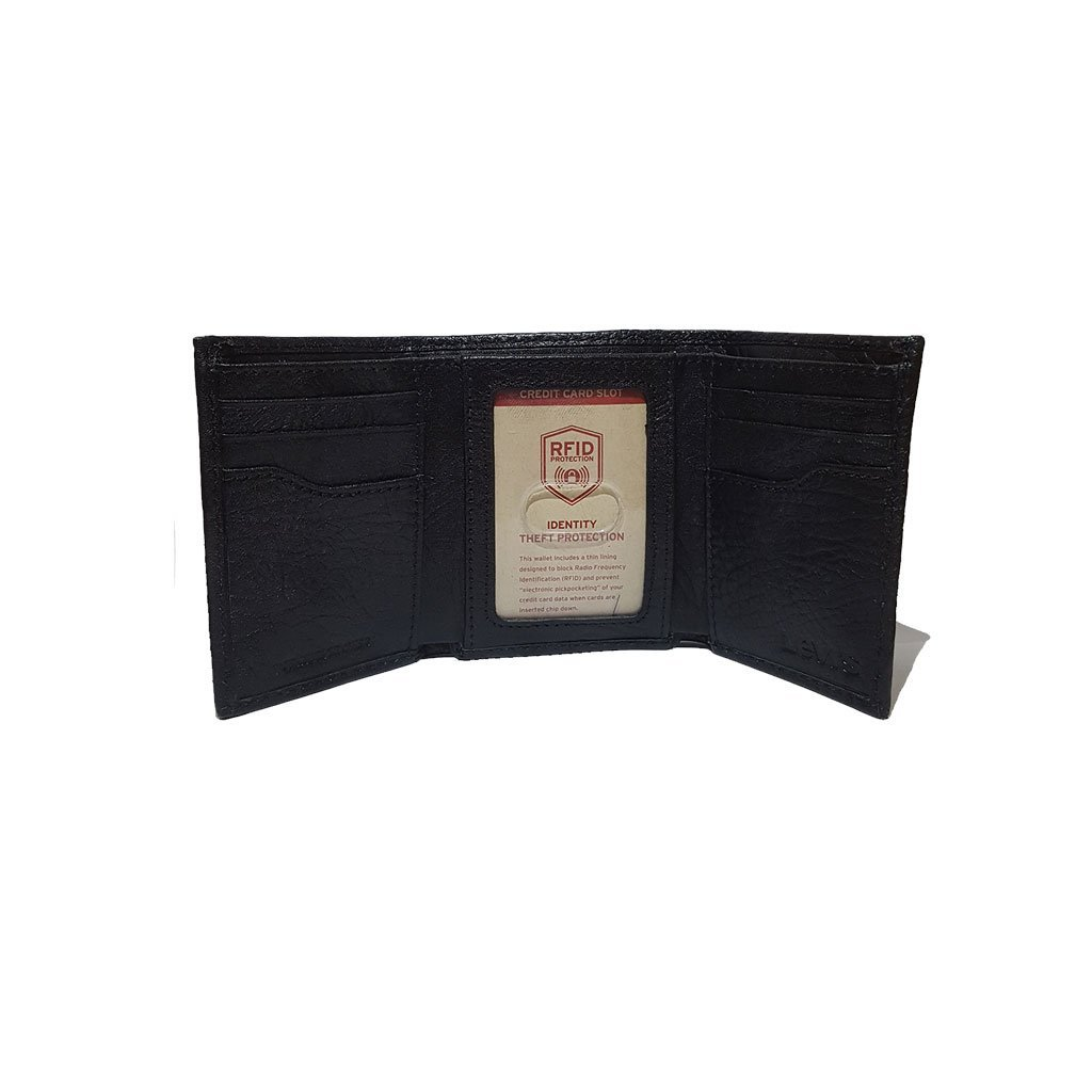 Levi's® 31LV110022 men's RFID trifold leather wallet black one size image 3