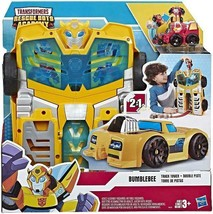 """Playskool Heroes Transformers Rescue Bots Academy Bumblebee Track Tower 14"""" Play"""