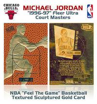 Michael Jordan 1996 Fleer Texture Edizione Limitata 23KT Oro Cartoline! ... - $12.76