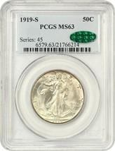 1919-S 50c PCGS/CAC MS63 - Scarce, Early Walker - Walking Liberty Half D... - $9,166.50