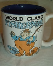 Vtg World Class Fisherman Mug Willoughby Message Mugs Father Dad Gift Humor - $9.88