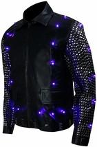 WWE Chris Jericho (Y2J) Light Up Black Studded Leather Jacket image 2