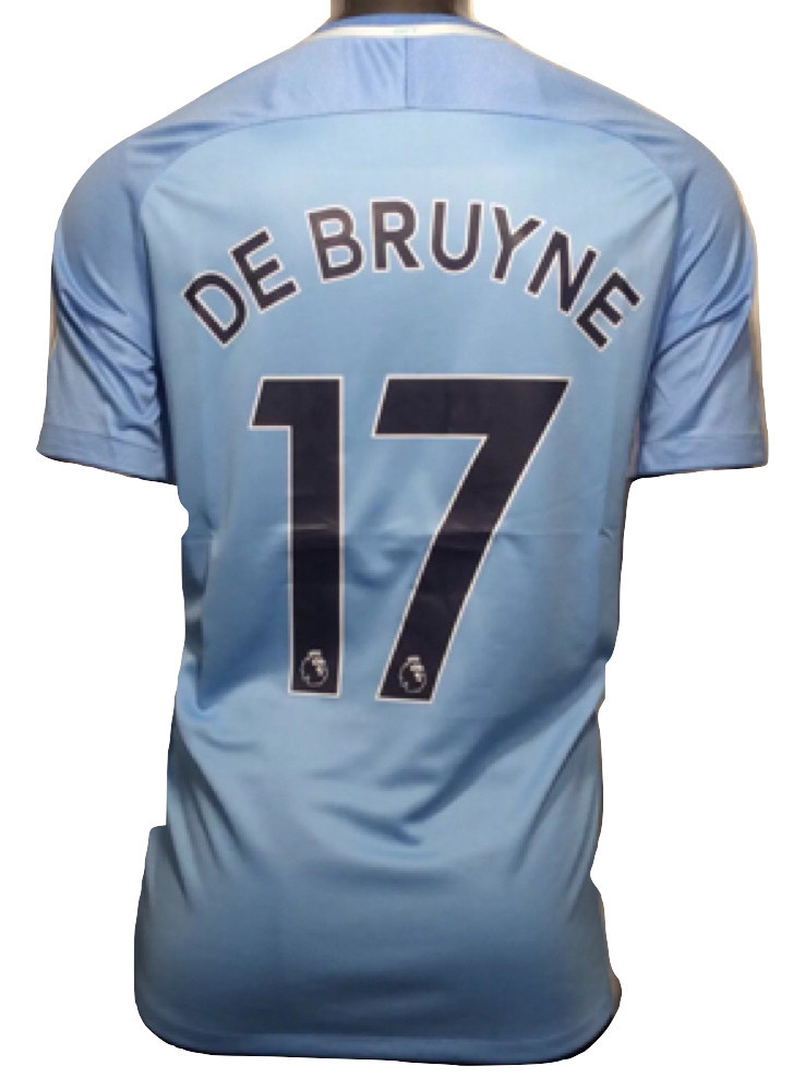 ac912630c0284 2017-18 Manchester City Nike Kevin De Bruyne  17 4XL Away Soccer Jersey -   64.99