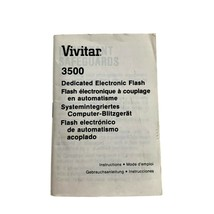 Vivitar 3500 Dedicated Electronic Flash Instruction Manual Booklet - $9.89