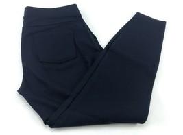 Matty M Women's Legging Stretch Wide Elastic Band Pants Size M Navy Blue - $14.69