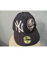 New York YANKEES Retro Ball Logo NY New Era 59FIFTY SZ 8 MLB Hat Cap Baseball - $16.82