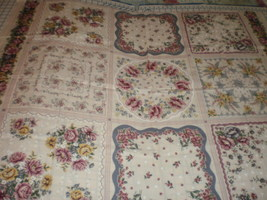 Hooked on Hankies RJR Fabrics 9 Blocks Panel OOP HTF  - $24.00