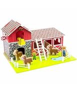By-Imagination Generation Playset Toy, Wooden Barnyard Horses Farmers Ha... - $98.99