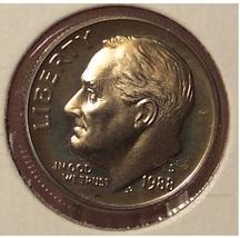 1988-S DCAM Proof Roosevelt Dime PF65 #0468 - $3.19