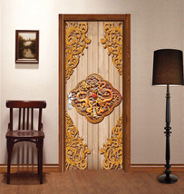 3D golden pattern Door Wall Mural Photo Wall Sticker Decal Wall AJ WALLPAPER DE - $73.11+
