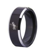 Los Angeles Dodgers MLB Sport Team Logo Tungsten Carbide Ring Black D3 - $32.99
