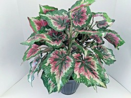 Real Touch Artificial Begonia Plant. Silk Flower Floral Arrangements - $26.24