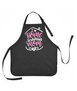 Mothers Day Apron, Home is Wherever Mom Is, Apron Gift for Moms - $18.00