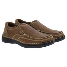 Izod Men's Charlie Memory Foam Insole Slip On Shoes Color: Dark Tan NEW NWOB