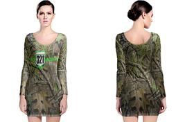 JUST RIDE 321 REALTREE AP CAMO LONG SLEEVE BODYCON DRESS - $24.99+