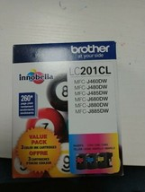 Brother LC201CL Cyan Magenta Yellow Color Ink Cartridges Exp 09/2022 - $23.75