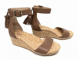 UGG Australia Zoe Tassel Open Toe Wedge Sandal 1019973 Chestnut Women's Shoes ~ - $79.99