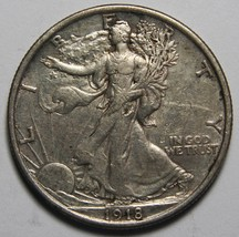 1918 Walking Liberty Half Dollar 90% Silver Coin Lot# MZ 4238