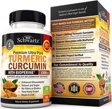 Turmeric Curcumin BioPerine 1500mg Natural Joint & Healthy Inflammatory Support  - $23.21