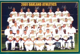2001 OAKLAND ATHLETICS A's 8X10 TEAM PHOTO MLB BASEBALL PICTURE - $3.95