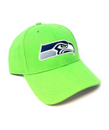 NFL SEATTLE SEAHAWKS BRIGHT GREEN 3D LOGO CURVED BILL ADJUSTABLE HAT CAP... - $22.75
