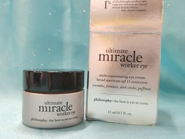 Philosophy Ultimate Miracle Worker Eye Cream Rejuvenating Spf 15 .5oz Boxed New! - $26.31