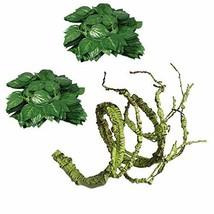 Flexible Bend-A-Branch Jungle Vines Plastic Terrarium Plant Leaves Pet H... - $10.57