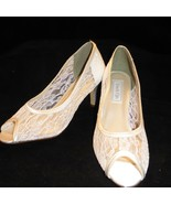 """Touch Ups Womens White Lace Dress Pumps US 8.5 M 3"""" High Heels 35396 405... - $37.09"""