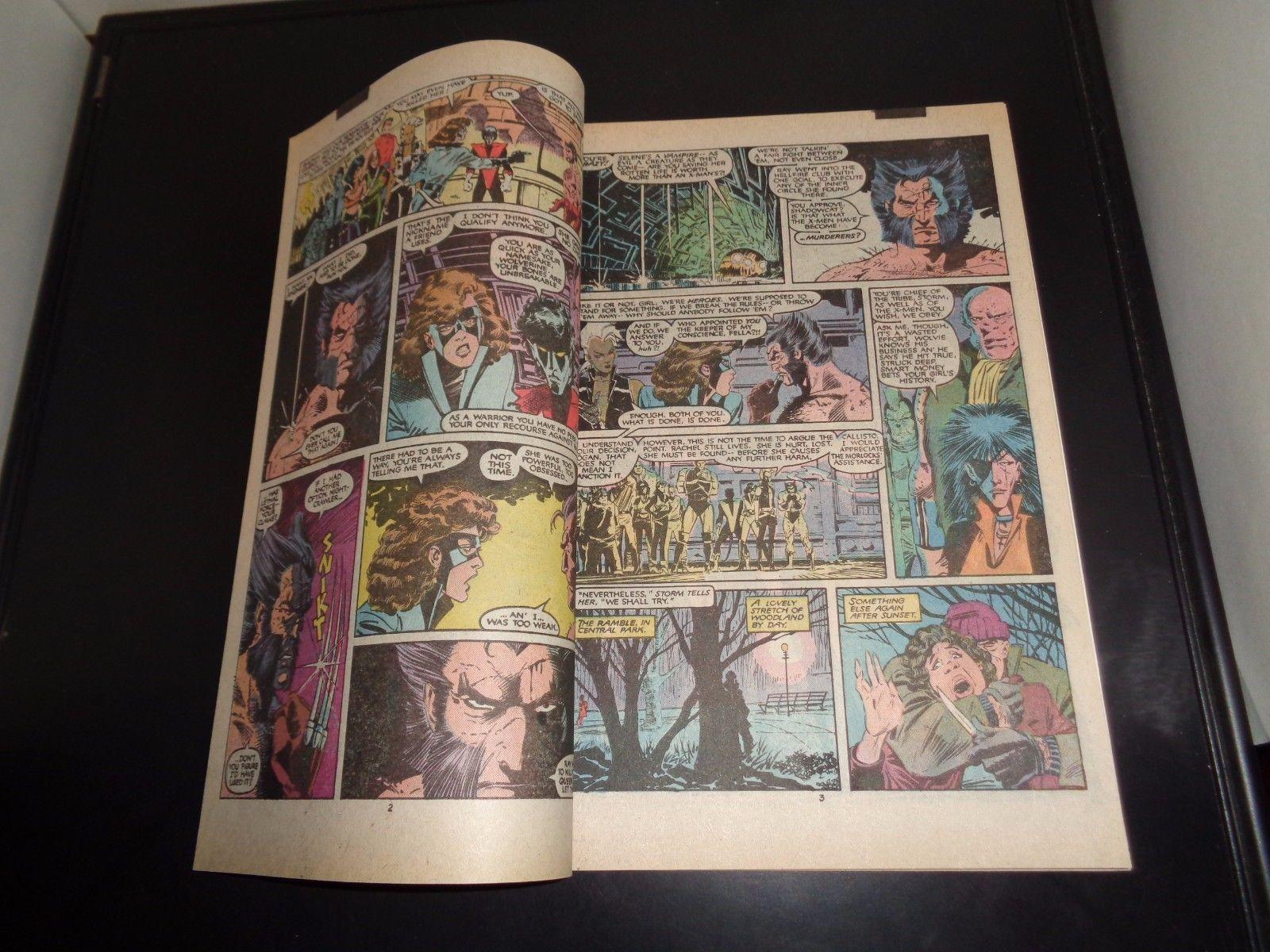 Uncanny X-MEN #208 1986 Marvel Comic Book NM (9.2) Condition Wolverine HELLFIRE