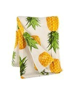 Bay Breeze Oversized Plush Throw Blanket, 50-Inch x 70-Inch (Pineapples) - £26.52 GBP
