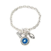 Inspired Silver Elizabeth City State College Vikings Love Football Silve... - $30.33