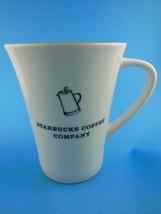 Starbucks 2006 Coffee Mug 14 Oz Tall  White Outside Yellow Inside - $11.13