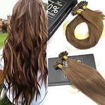 Sunny Remy Straight U Tip Keratin Hair Extensions Human Hair,Light Brown Hair Ex