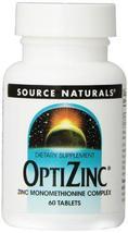 SOURCE NATURALS Optizinc 30 Mg Tablet, 60 Count - $19.99