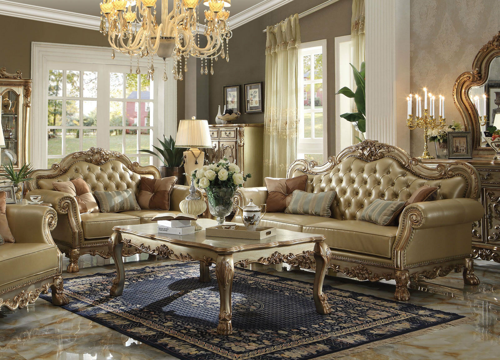 marcella traditional gold wood trim living room faux
