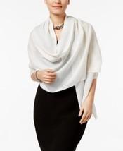 Calvin Klein Metallic Stripe Scarf Neck Wrap, Eggshell - $15.00