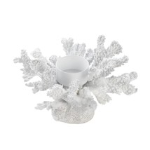 Candles Pillar Holder, White Coral Decorative Unique Rustic Pillar Candl... - $20.29