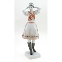 Hungarian Porcelain Khazar Woman Figurine By Hollohaza - $64.13
