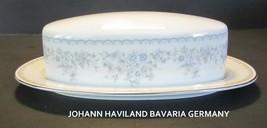 Vintage Johann Haviland ROYAL LACE Covered Butter Dish MINT - $17.77