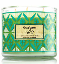 BATH & BODY WORKS Amazon Falls 14.5 Ounces Three Wick Candle  - $28.48