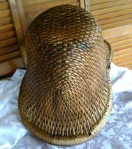 Vintage Chinese Willow Market Basket w/ Wooden Handle image 10