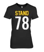 National Patriotic Anthem Football Jersey Shirt Stand 78 Tee - $19.99
