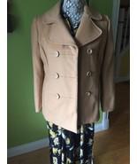 GAP Wool Camel Pea Coat Jacket, Size S - $18.00