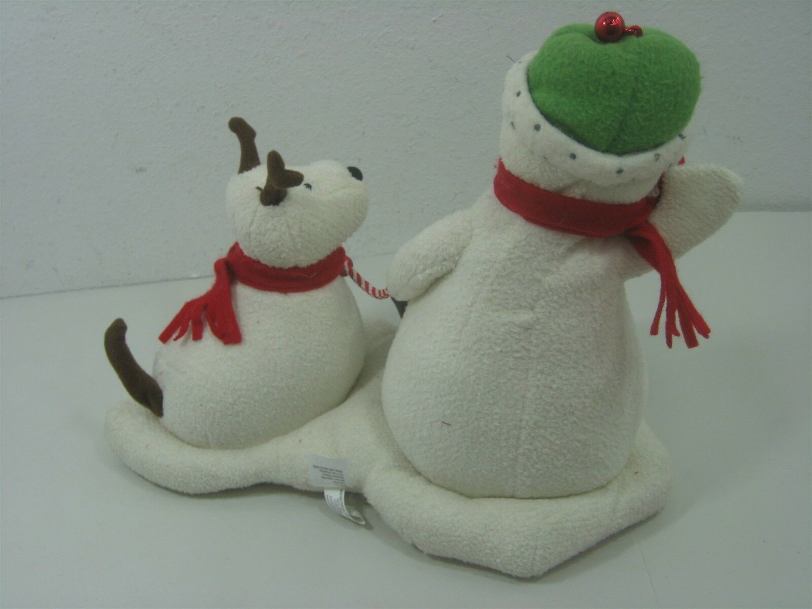 2004 Hallmark Jingle Pals Plush Snowman with Dog Animated Sings Jingle Bells image 4
