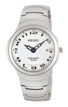 Seiko watch premier sapphire crystal arabic numbers round case SKP051 - $150.48
