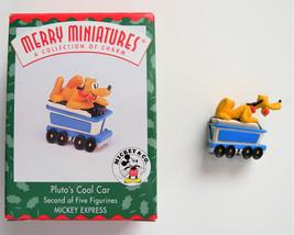 Hallmark Mickey Express Merry Miniatures Pluto's Coal Car Figurine - $11.83